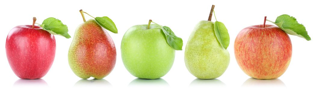Three pears and two apples of cell wall calcium of AGQ Labs USA